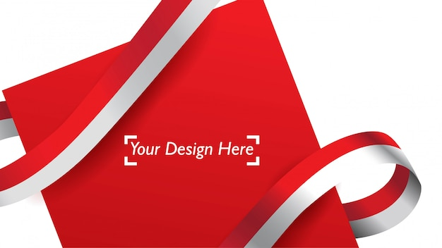 Indonesian patriotic background template with empty space for text, design, holidays, independence day