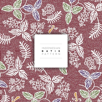Indonesian salak batik pattern free vector