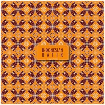 Шаблон индонезийского традиционного батика в современном цвете