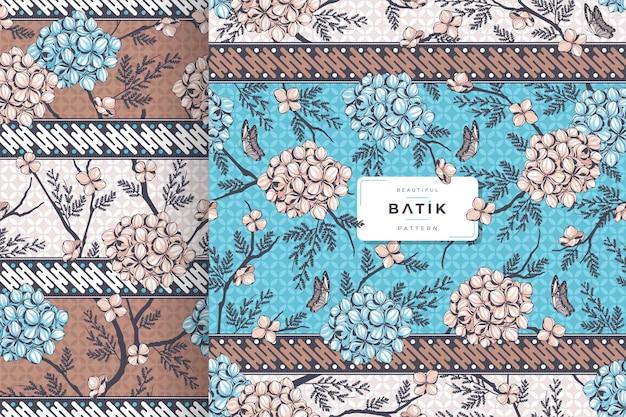 Indonesian traditional batik pattern template