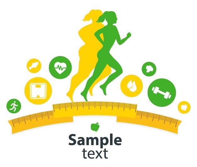 Концепция фитнеса в помещении и приложение для фитнеса изолировать