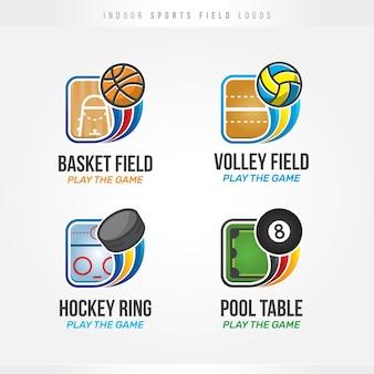 Indoor sports field logos