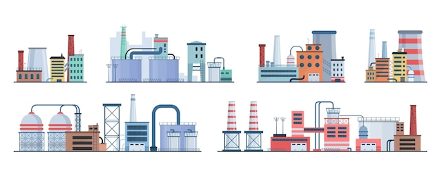 工業ビルエコスタイルファクトリーシティランドスケープ
