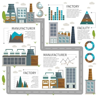 Industrial buildings infographic