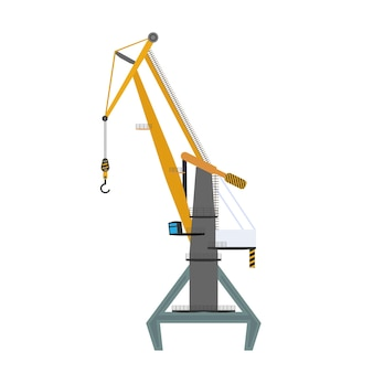 Industrial crane for lifting goods. good for design on the topic of distribution, logistics and freight. isolated. vector.