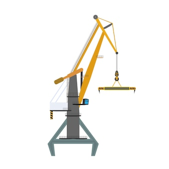 Industrial crane for lifting goods. good for design on the topic of distribution