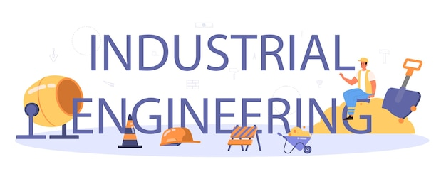 インダストリアルエンジニアリングの活版印刷ヘッダー