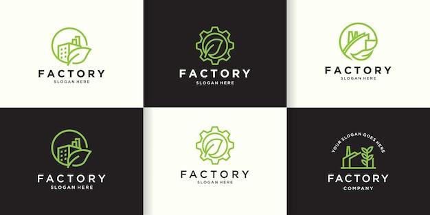 Концепция логотипа промышленной экологической безопасности
