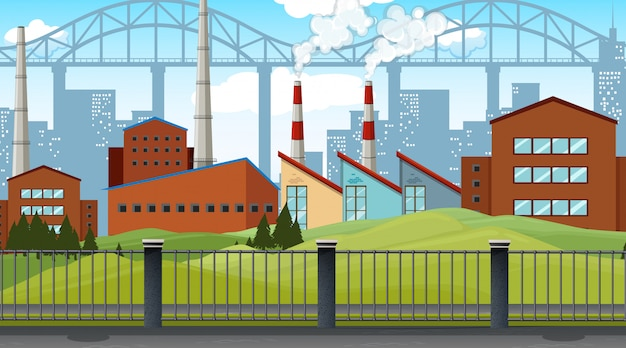 Industrial estate illustration