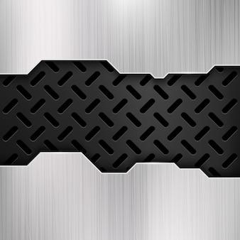Industrial grunge metal, steel wall, gatel vector background