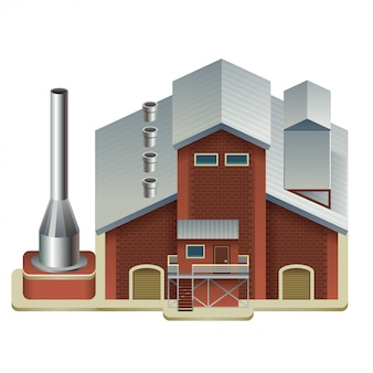 Industrial manufacture building