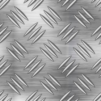 Industrial metal plate with non slip diamond surface, seamless pattern