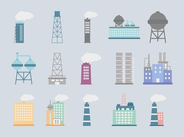 Промышленные предприятия и башни