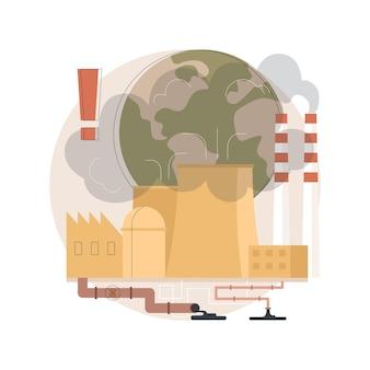 Industrial pollution illustration