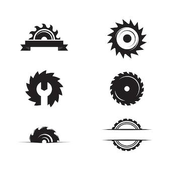 산업 톱 벡터 일러스트 아이콘 디자인 서식 파일