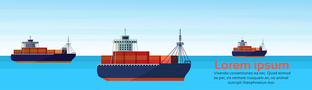 Industrial sea freight ship cargo logistics container import export water delivery transportation