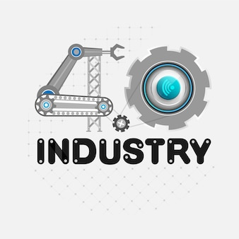 Industry 4.0 concept of industrial business