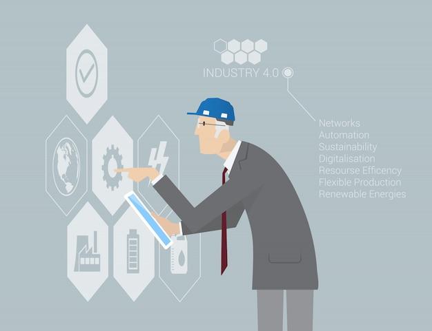 산업 4.0 개념 infographic