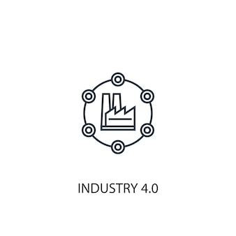 Industry 4.0 concept line icon. simple element illustration. industry 4.0 concept outline symbol design. can be used for web and mobile ui/ux