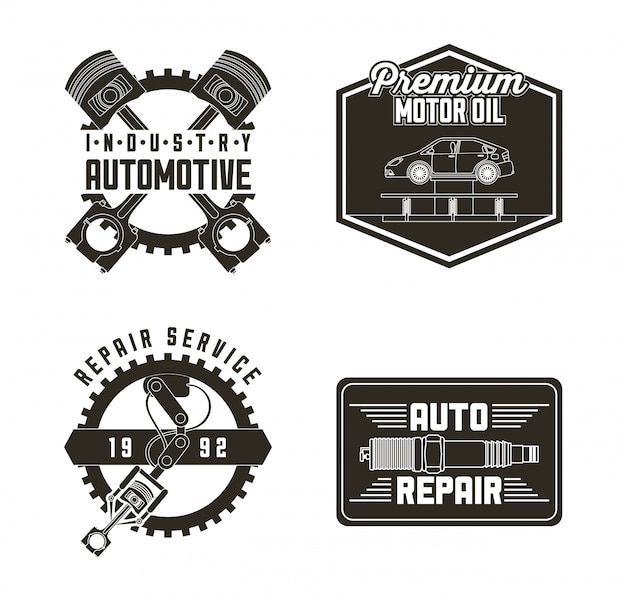 Industry automotive auto service labels