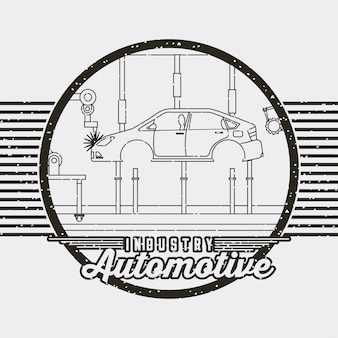Industry automotive auto service logo