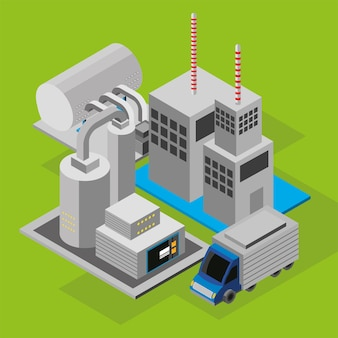 Industry manufacturing and truck