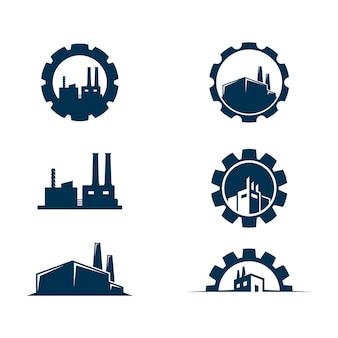 Industry vector icon design illustration template