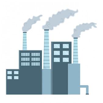 Промышленность с дизайном окон и дымоходов