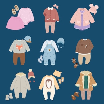 Infants baby child clothes .