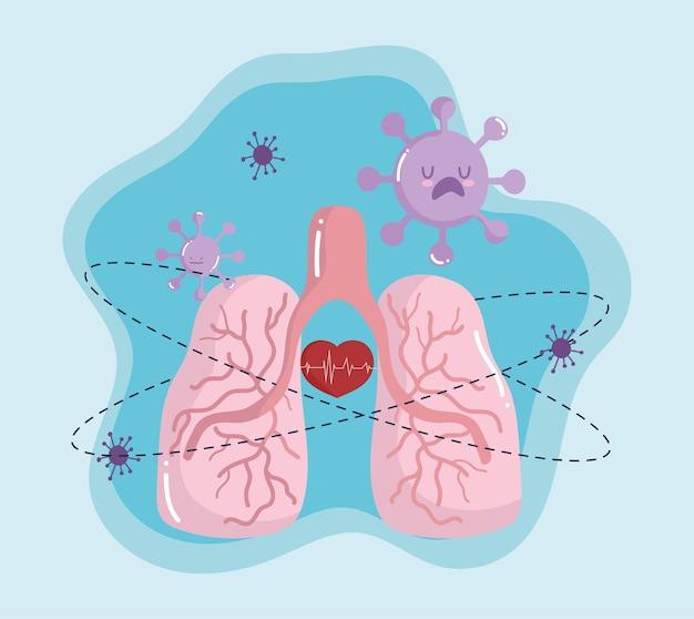 감염된 폐 covid