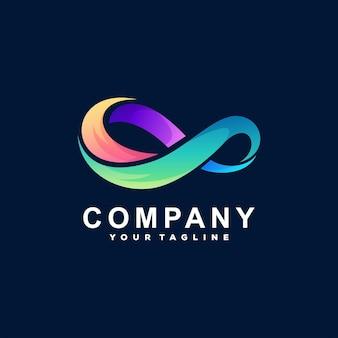 Бесконечный цветной градиентный дизайн логотипа