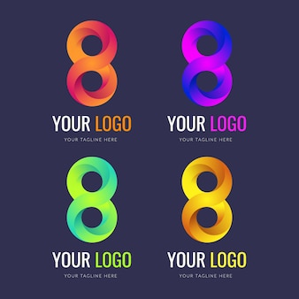 無限ロゴコンセプトデザインセットバンドル