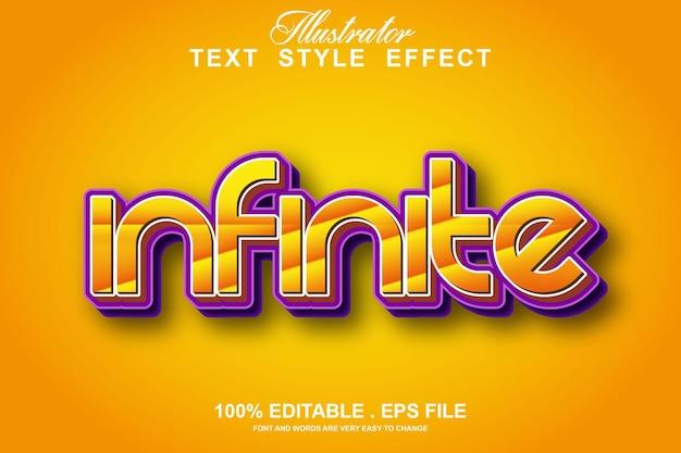 Infinite text effect editable