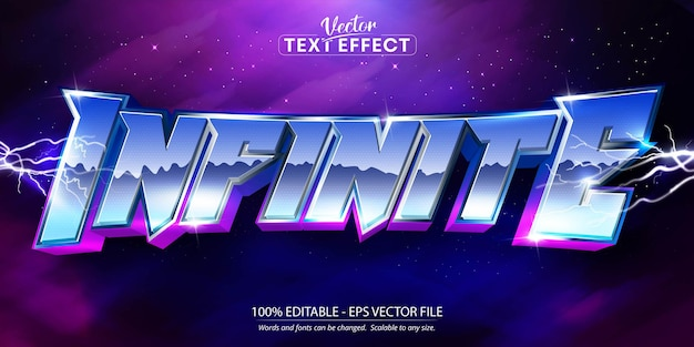 Infinite text neon style editable text effect