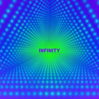 輝くフレアの無限の三角形のトンネル