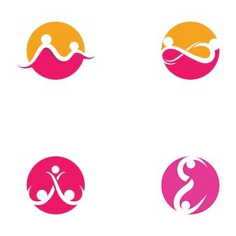 Шаблон логотипа infinity adoption и community care