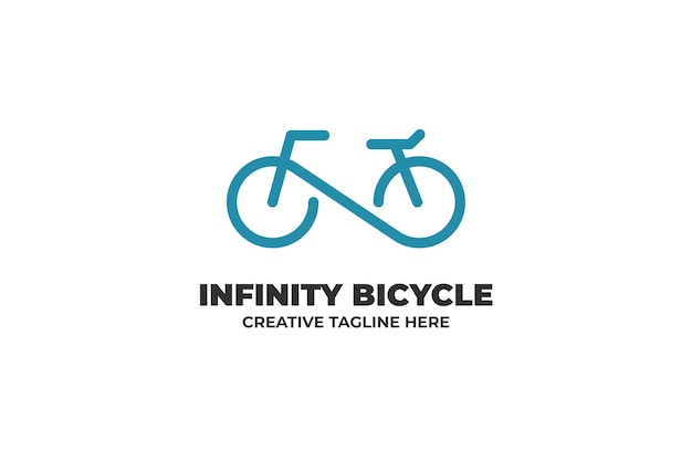 Infinity bicycle one line business logo