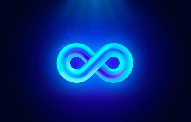 무한대 색 아이콘 기호 요소 기하학적 벡터 프리미엄 벡터