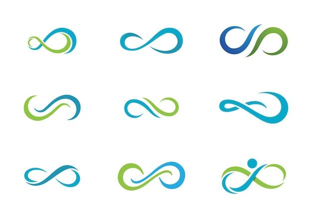 Infinity design infinity logo векторный шаблон логотипа