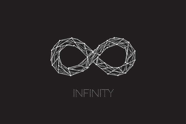 Infinity design with line dot concept