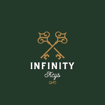 Infinity keys. abstract vector sign, symbol or logo template.