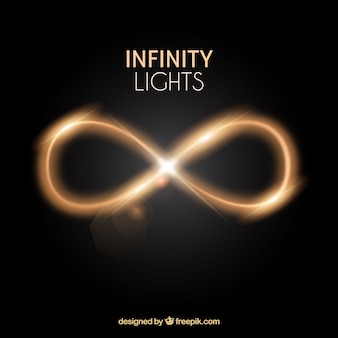 Infinity lens flare symbol with light effect