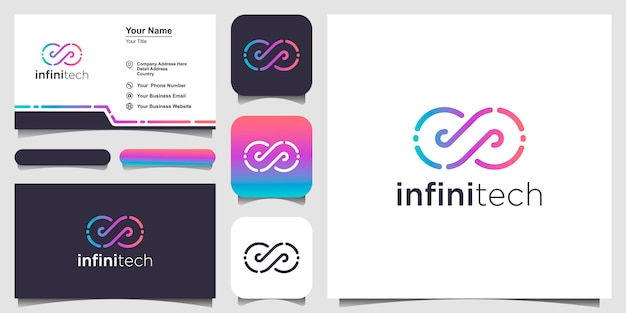 Логотип и визитная карточка infinity