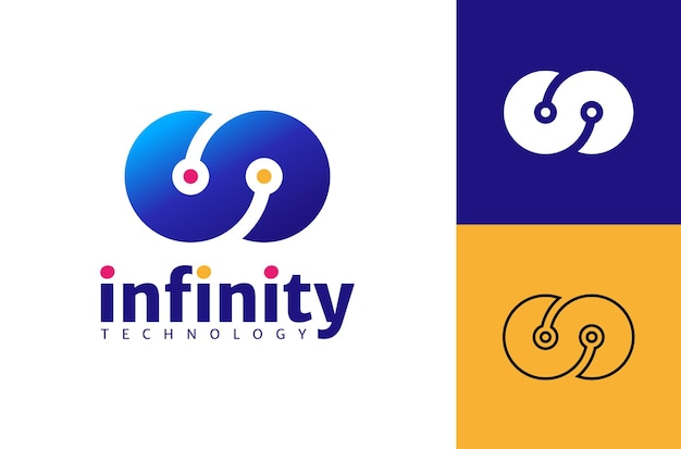 Infinity logo template design concept