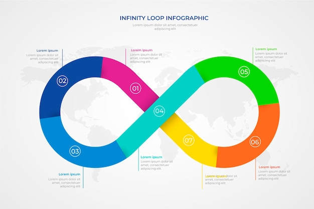 Infinity loop infographic template