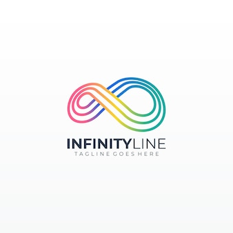 Infinity loop line illustration colorful icon