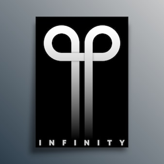 Infinity loop symbol for poster, flyer, brochure cover, typography, or other printing products