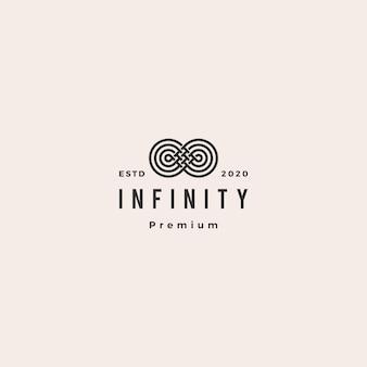 Infinity mobius логотип значок хипстер винтаж ретро