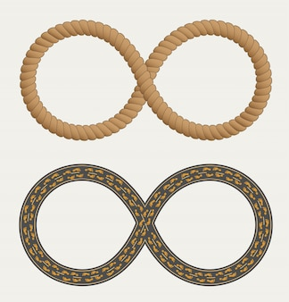 Infinity symbol in the form rope and roads