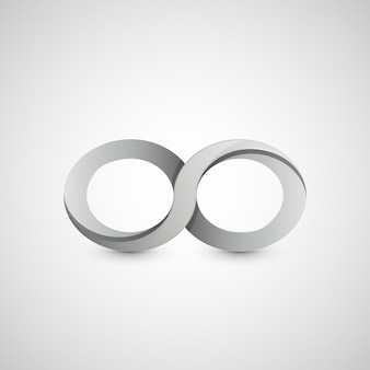 Infinity symbol, graphic design